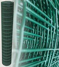 25 Meter Maschendrahtzaun Gitterzaun Drahtzaun grün Höhe 180 cm Maschenweite 5 x 10 cm Gartenzaun