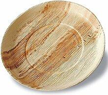 25 Palmblatt-Teller rund, Ø 24 cm, Tiefe 2,5 cm