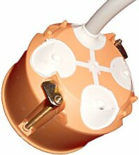 25 Stck. Hohlwanddosen winddicht mit Durchstoßmembranen - orange - Ø 68 mm, Höhe 47 mm