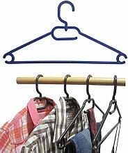 25 Stk.Kleiderbügel aus Kunststoff Universalkleiderbügel Farbe blau ca 41 cm