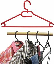 25 Stk.Kleiderbügel aus Kunststoff Universalkleiderbügel Farbe rot ca 41 cm