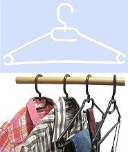 25 Stk.Kleiderbügel aus Kunststoff Universalkleiderbügel Farbe weiß ca 41 cm