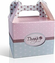 "25 Stück Cupcake Boxen ""Thank you"""