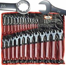 25-tlg. Ringschlüssel Set Maulschlüssel Satz 6 - 32 mm Chrom Vanadium Stahl