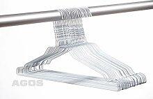 250 AGOS Drahtbügel Drahtkleiderbügel Weiß mit