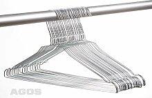 250 AGOS Metall Drahtbügel Drahtkleiderbügel mit