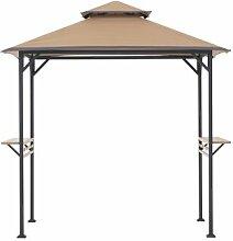 250 cm x 150 cm Grillpavillon Arbrook aus Stahl