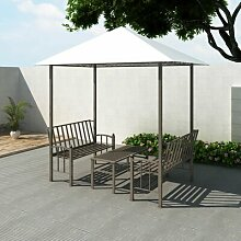 250 cm x 150 cm Pavillon Aubrielle aus Stahl