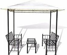 250 cm x 150 cm Pavillon Moyers aus Metall