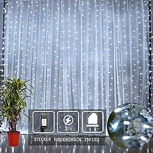 250 LED Sterne Regen Lichterkette eiszapfen