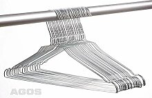 250 Metall Drahtbügel Drahtkleiderbügel mit