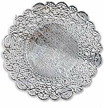 250 Stück Runde Silberfolie Metallic-Papier