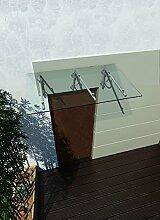 250 x 90 cm (3 Haltestangen) Glasvordach Vordach