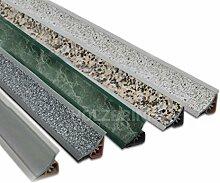 250cm Küchenabschlussleiste Küchenleiste Wandabschlussleiste Abschlussleiste UPS Küchen Arbeitsplatten 23 x 23mm LB23-610 ALUMINUM