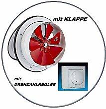 AMS Bad-L/üfter Wand-Ventilator Leise pRim TOP /Ø 100 HS-mit Feuchtesensor und mit Nachlaufrelais