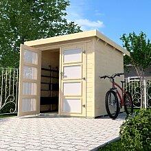 254 cm x 194 cm Fahrradgarage aus Massivholz Weka