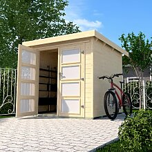 254 cm x 250 cm Fahrradgarage aus Massivholz Weka