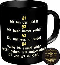 2548 Geburtstag Firma Tasse: § 1 ICH BIN DER