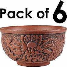 25DOL Chinesische lila Ton-Teekanne mit Sieb -