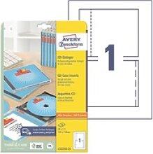 25er-Pack CD-Einleger »C32250-25« weiß, Avery