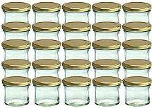 25er Set Sturzglas 125 ml Marmeladenglas