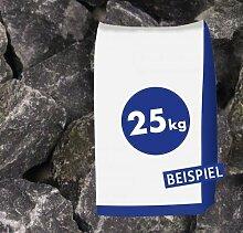 25kg Gabionen Steine Basaltbruch - Eifelschwarz