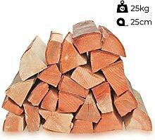 25kg Kaminholz Brennholz 25cm 100% reine Buche,