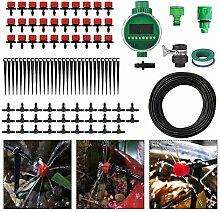 25M DIY Automatisch Micro-Bewässerung Drip System, 82 FT Schlauch, 30 Tropfer & Feste Vorbau, 29 Tee Gelenke,Tubing Bewässerung Drip Kit für Garten Landschaft Flower Bed Terrasse Pflanzen