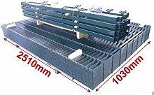 25m Doppelstabmattenzaun Set 1030mm 7016/6005