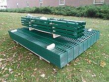 25m Zaunanlage Gartenzaun Zaun 1830mm Doppelstabmatten Verzinkt + Pulverbeschichte