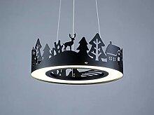 25W Led Pendelleuchte Kind Design Ring Wald und