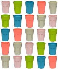 25x Trinkbecher Party-Becher Kunststoffbecher Bunt