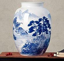 26 * 37cm / Blau Und Weiß Porzellanvase