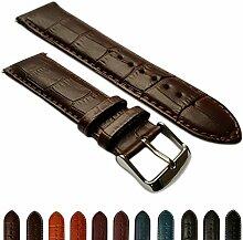 26mm Uhrenarmband echt Leder Mock Croc Band