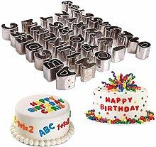 26 Stück 3D Buchstaben Edelstahl Sugarcraft Sets