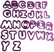 26-teiliges Set DIY Buchstaben Kuchen Formen