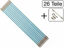 26 teiliges Set Kabel Verlegewerkzeug 20m (20 x 1m) aus glasfaserverstärktem Polyesther
