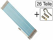 26-teiliges Set Kabel Verlegewerkzeug 6,60m (20 x 330mm) aus glasfaserverstärktem Polyesther