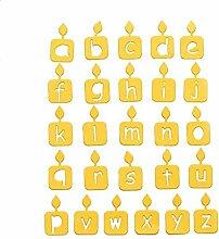 26 Winzige Kerze Alphabet Metall Stanzformen 26