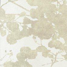 26891106–Geoden beige Blätter casadeco