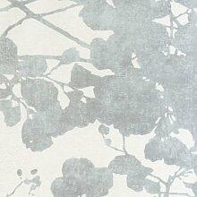 26899127–Geoden grau Blätter casadeco