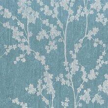26946144–Geoden blau Blätter, Stiele