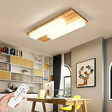 26W Holz LED Deckenleuchte, dimmbar Deckenlampe