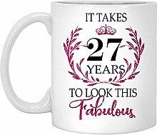 27. Geburtstagsgeschenk Für Frauen-Es Dauert 27