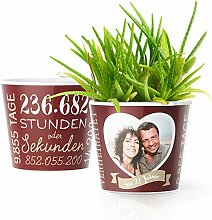 27. Hochzeitstag Geschenk – Blumentopf (ø16cm)