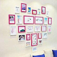 27 Stück DIY Liebe Form Bilderrahmen Set,