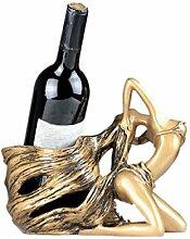 27cm Big Wine Holder Sexy Girl Langes Haar Flasche