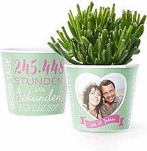 28. Hochzeitstag Geschenk – Blumentopf (ø16cm)