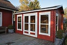28 mm Gartenhaus Arne ca. 450x350 cm (unbehandelt)