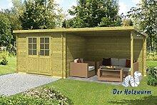 28 mm Gartenhaus Freddy ca. 598x250 cm